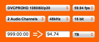 Hur mycket lagringsuttrymme tar HDV eller DVCPRO?