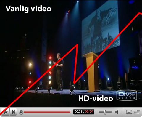 Nu kan du få hd-video på YouTube